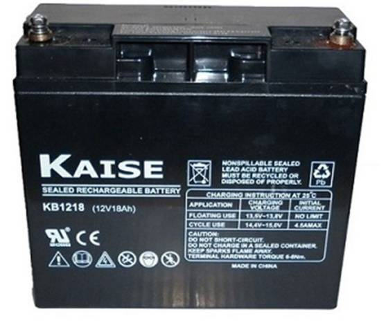 Batería solar KAISE KB12180 AGM 12V – 18Ah /C20
