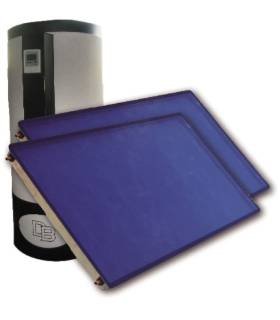 Equipo sistema forzado 300L con 2 placas horizontales 2m²