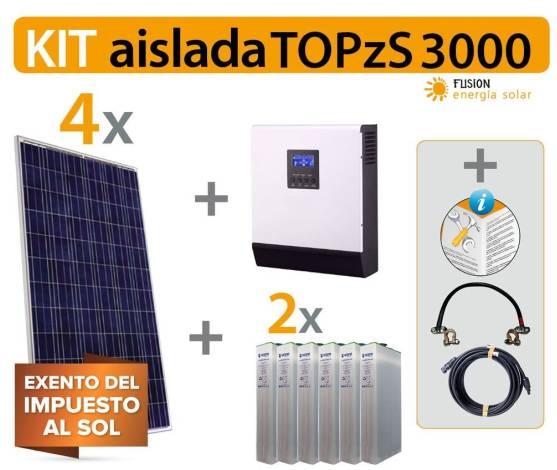 Kit solar vivienda aislada TOPzS 3000VA