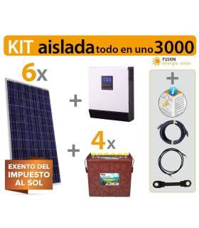 Kit solar vivienda aislada (Todo en Uno) 3000VA