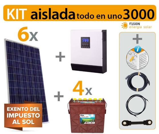 Kit Solar Fotovoltaico aislada 3000VA