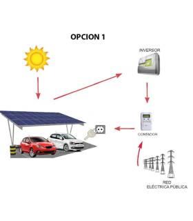 Kit  solar con marquesina para recarga de 2 coches eléctricos - 4 kW