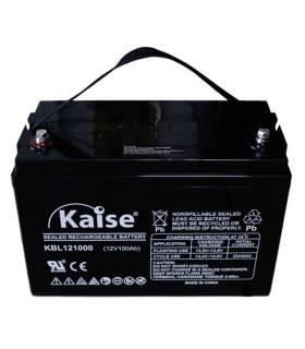 Batería solar KAISE KBL121000 AGM (Sin mantenimiento) 12V – 100Ah