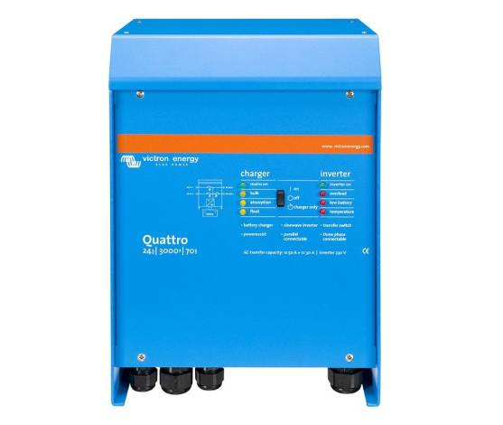 Inversor cargador Victron Quattro 12/5000/220-100/100