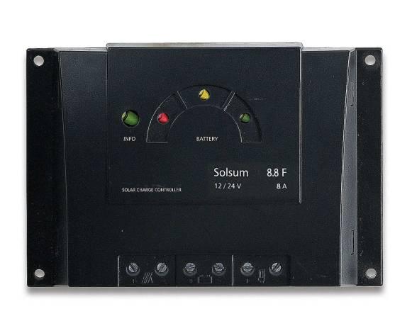 Regulador de carga solar STECA SOLSUM 8A 12/24V