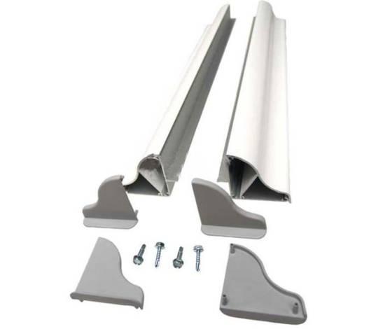 Kit soporte de aluminio 670 mm para paneles solares en caravana