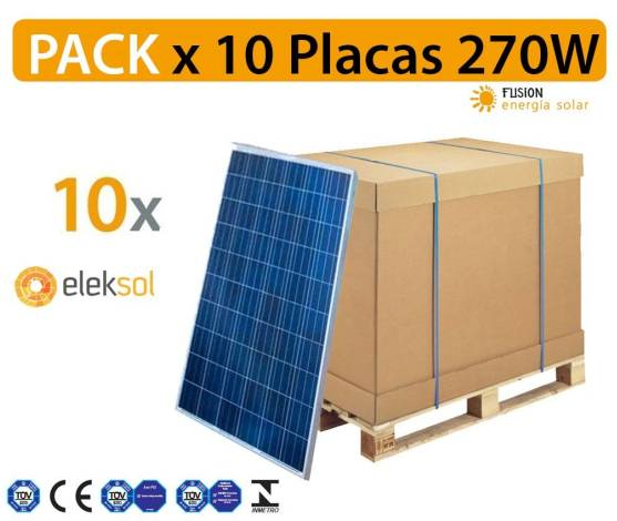PACK especial 10 Placas solares EXIOM 280W