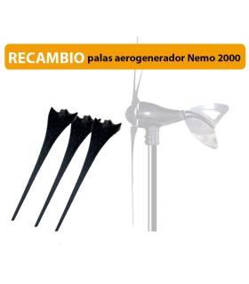 Reacmbio palas para aerogenerador Nemo 400