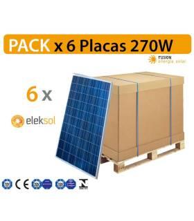 PACK especial 6 Placas solares Eleksol 270 W