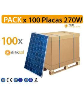 PACK especial 100 Placas Solares Exiom 270W