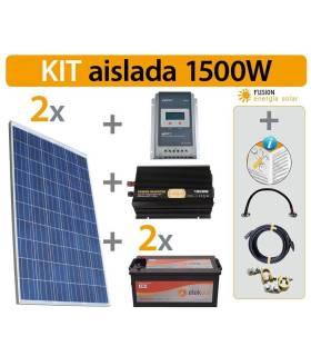Kit Solar Fotovoltaico aislada 1500 W