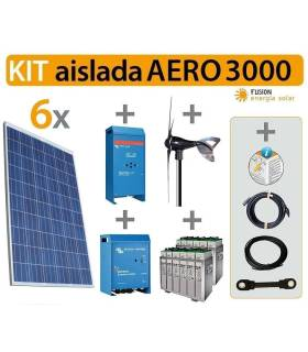 Kit solar vivienda aislada AERO 3000W