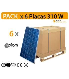 PACK especial 6 Placas solares EXIOM EX310W Monocristalina de alto rendimiento