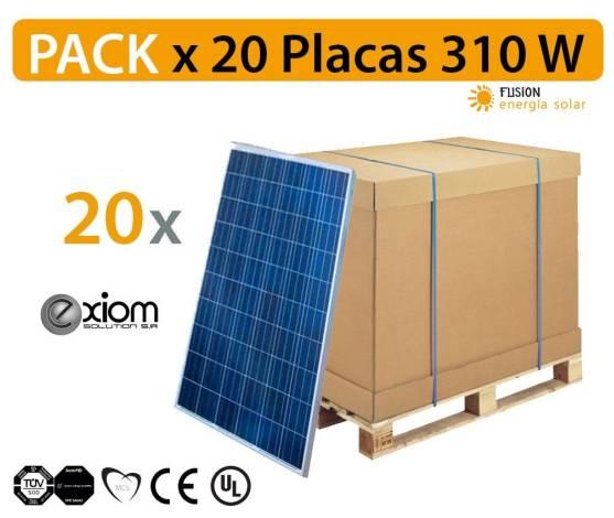 PACK especial 10 Placas solares EXIOM EX310W Monocristalina de alto rendimiento