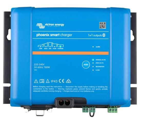 Cargador de baterías VICTRON PHOENIX SMART IP43 24/16 (1+1)