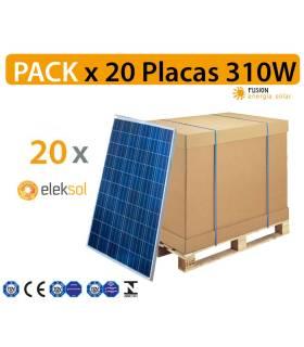 PACK especial 20 Placas solares Eleksol 310W PERC monocristalina