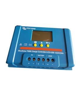 Regulador de carga Victron BlueSolar PWM-LCD & USB 12/24-20