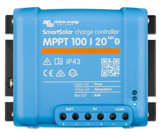 Regulador de carga VICTRON SmartSolar MPPT 100/20 12/24/48V - 20A
