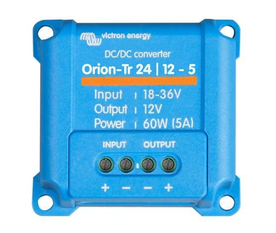 Convertidor CC/CC Victron Orion-TR no aislado 24/12-5 (60W)