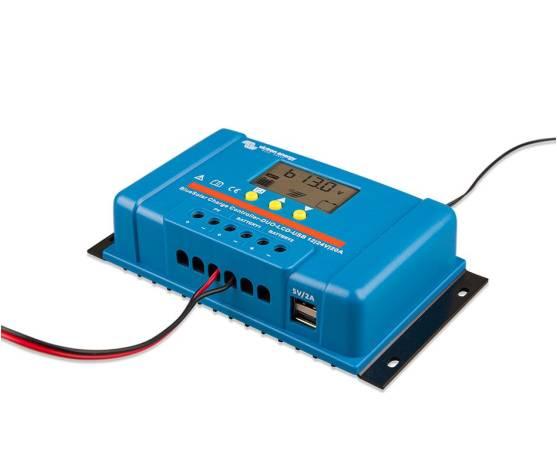 Regulador de carga VICTRON BlueSolar PWM DUO LCD&USB 12/24V - 20A