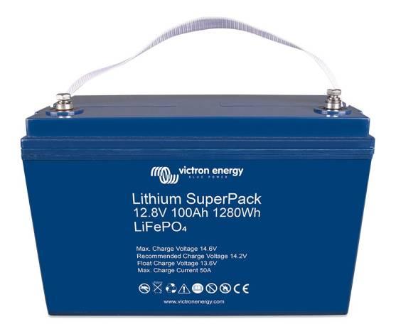 Lithium SuperPack Victron Energy 12.8V/100Ah Alta carga (M8)