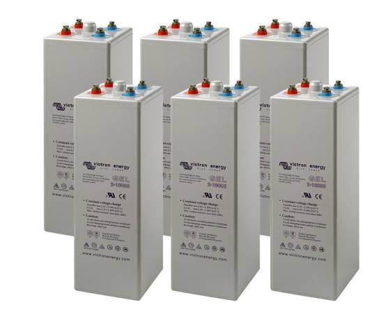 Batería solar VICTRON Energy GEL OPzV (Long Live) - 600Ah /C10 (6ud. 12V)