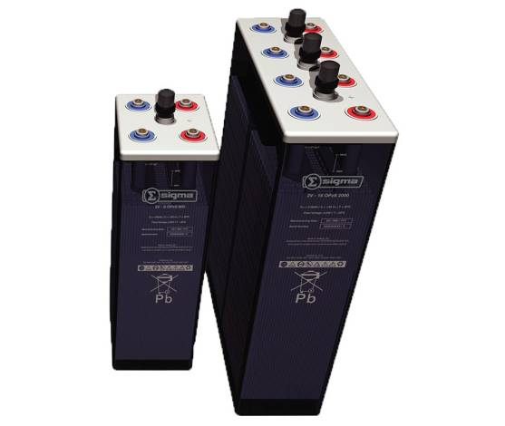Batería solar estacionaria Sigma 16 OPzS 2000 (6 ud. 12V) 2933 Ah/C100