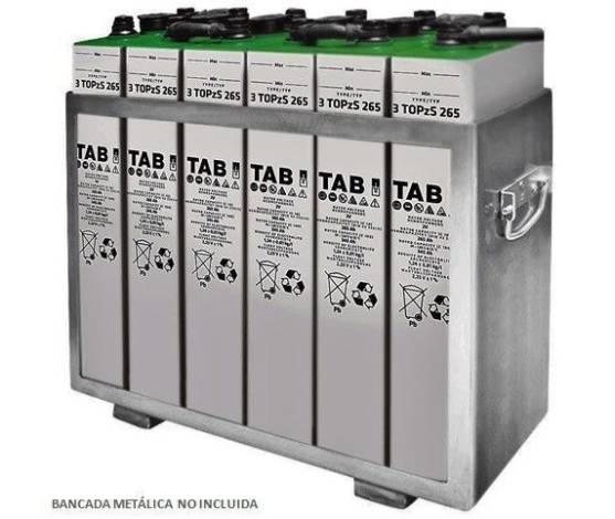 Batería solar 3 TOPzS 265C10 344AH C100 (6ud. 12V)