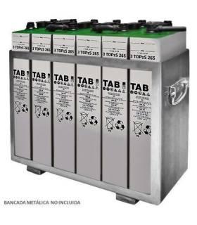 Batería solar 4 TOPzS 500C10 650AH C100 (6ud. 12V)