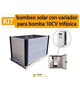 Kit bombeo solar con variador para bomba 10CV trifásica