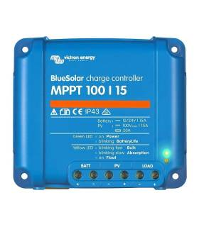 Regulador de carga BlueSolar MPPT 100/15 (12/24V-15A)