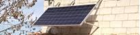 Estructuras para placas solares en pared
