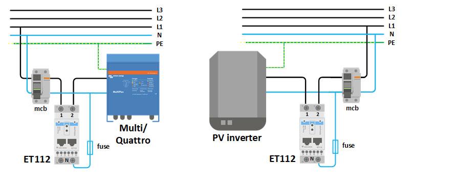 Opciones configuración ET112