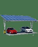 Marquesina para 2 coches eléctricos