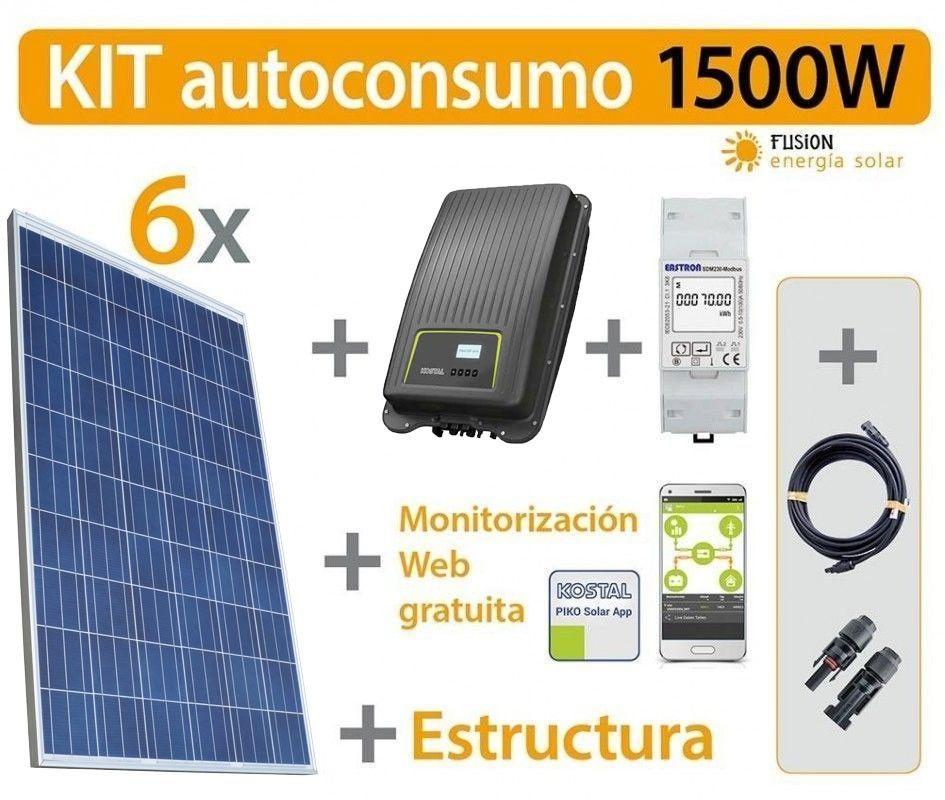 Kit autoconsumo inyección cero (Kostal) 1500W