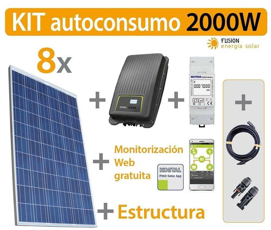 Kit autoconsumo inyección cero (Kostal) 2000W