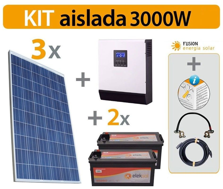 Kit solar vivienda aislada 3000 W