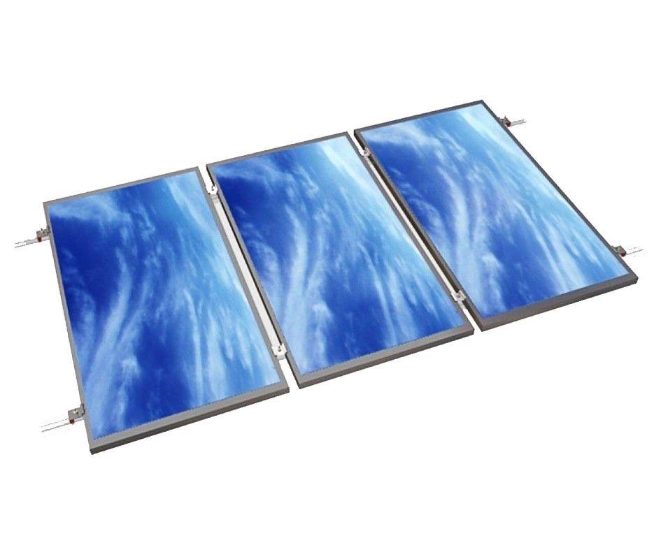 Estructura alu coplanar WÜRTH con tornillo para 3 placas en tejado