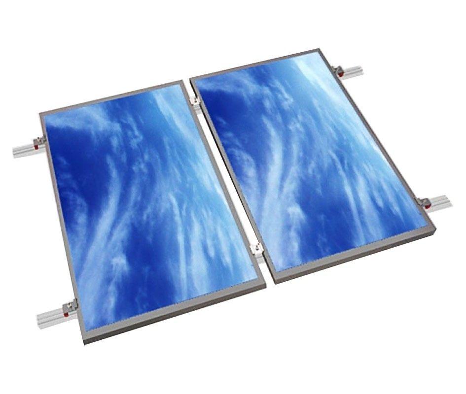 Estructura alu coplanar WÜRTH con tornillo para 2 placas en tejado
