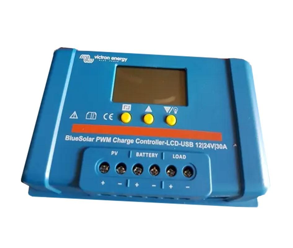 Regulador de carga Victron BlueSolar PWM-LCD & USB 12/24-30