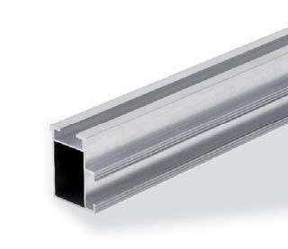 Correa carril de aluminio 47X37X2100