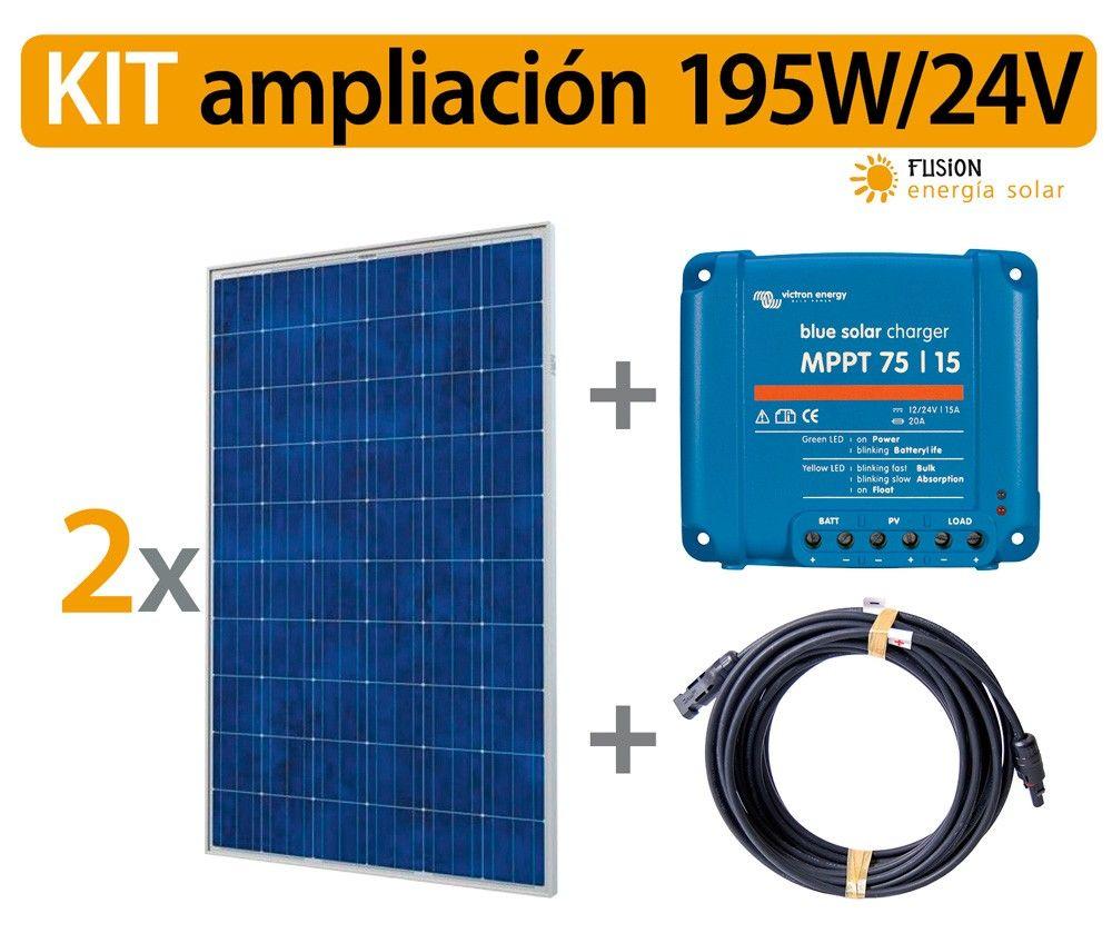 Kit solar de ampliación 24V / 390W