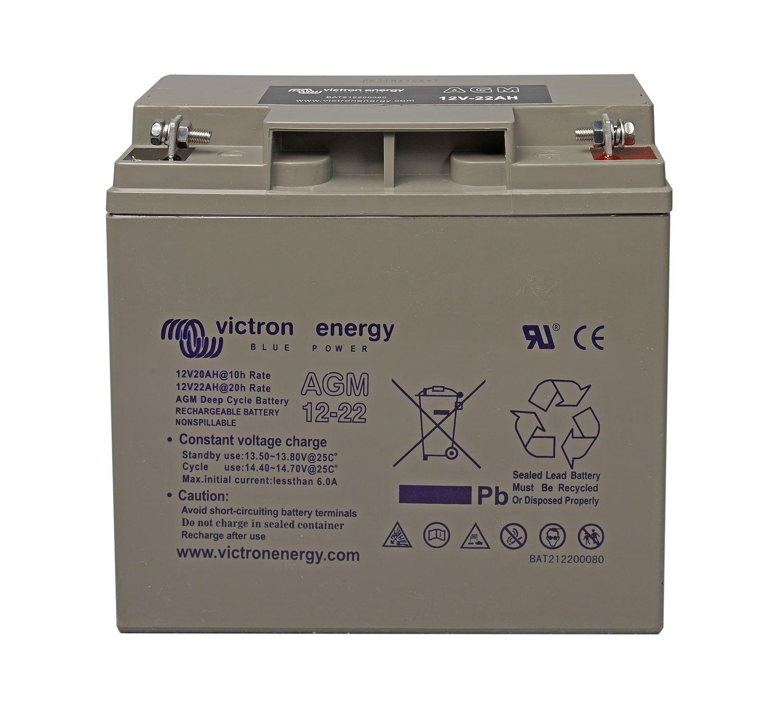 Batería solar VICTRON Energy AGM (Sin mantenimiento) 12V - 22Ah /C100