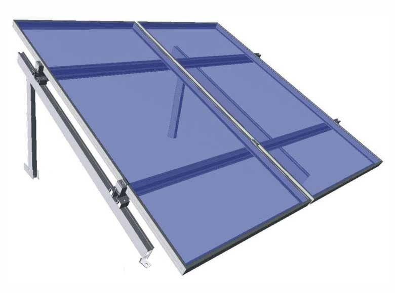 Estructura aluminio WÜRTH para 2 placas en suelo